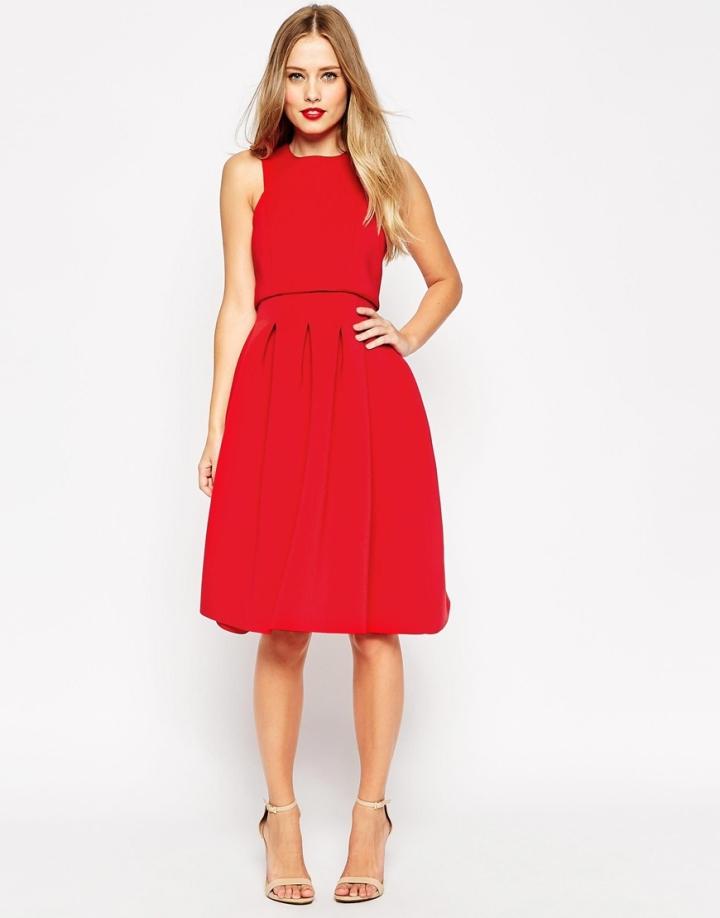 Red Debutante Dress