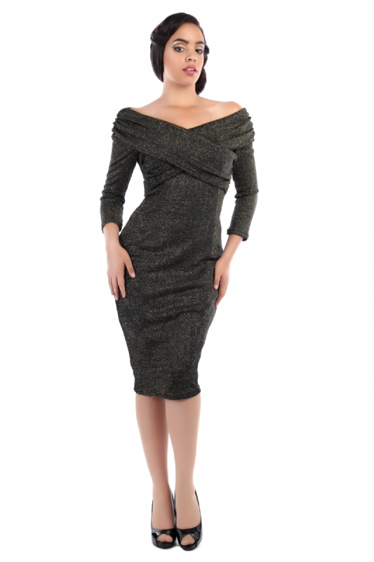 Hollie Lurex Wiggle Dress