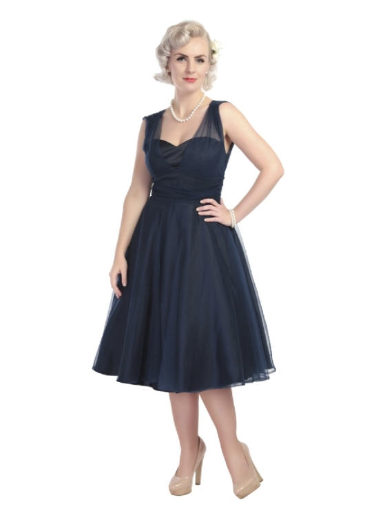 Sophie Occasion Swing Dress in Navy
