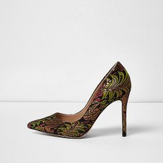 Embroidered Court Shoes, £35