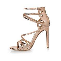 Rose Gold Sandals, £40