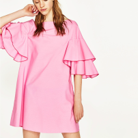 Ruffle Sleeve Dress