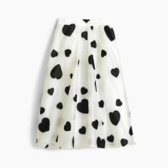Hearts Jcrew Skirt