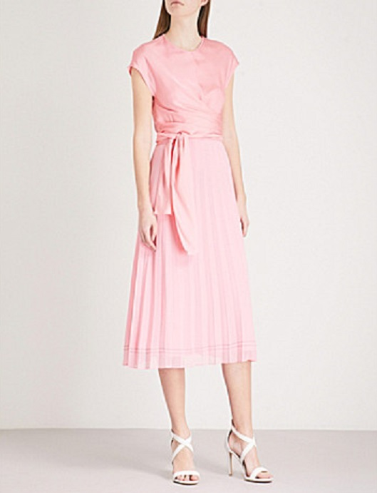 Sandro Pleated Dress