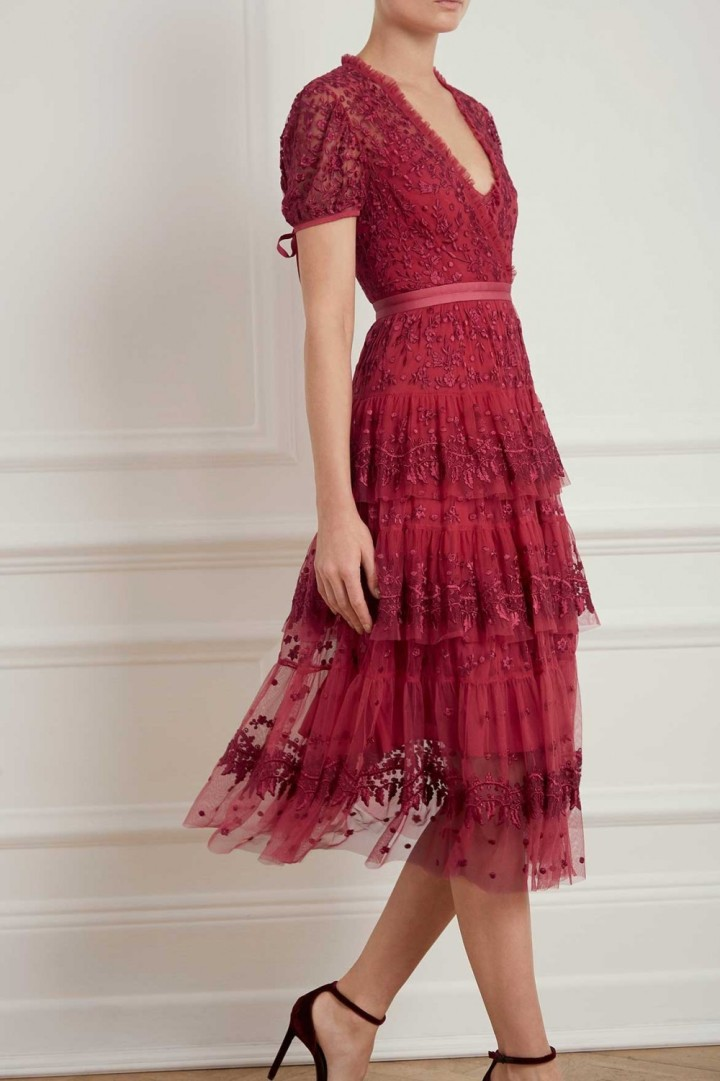 Needle Thread Layered Dress